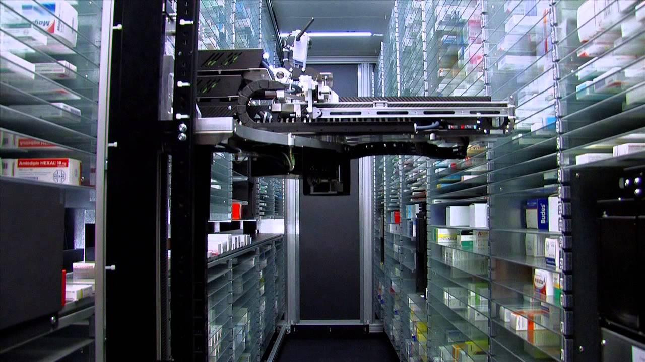 ROWA, Apothekenroboter für Medikamentenausgabe