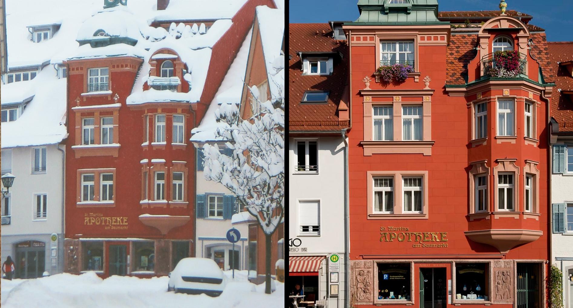Apotheke Haus Bild 3 im Sommer und Winter