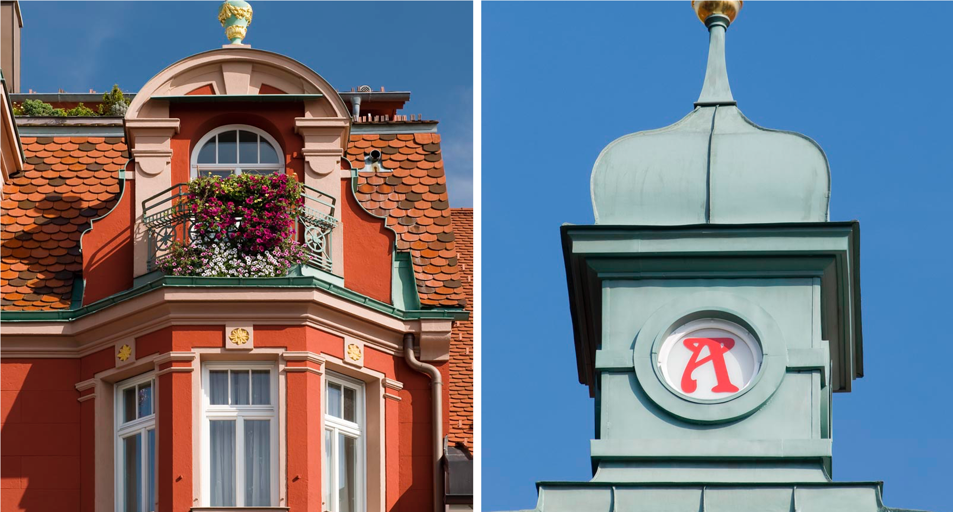 Apotheke Haus mit Turm und Balkon Bild 4